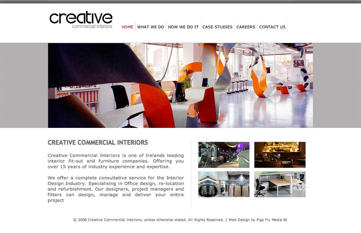 Creative Commercial Interiors | Pigs Fly Media | Web